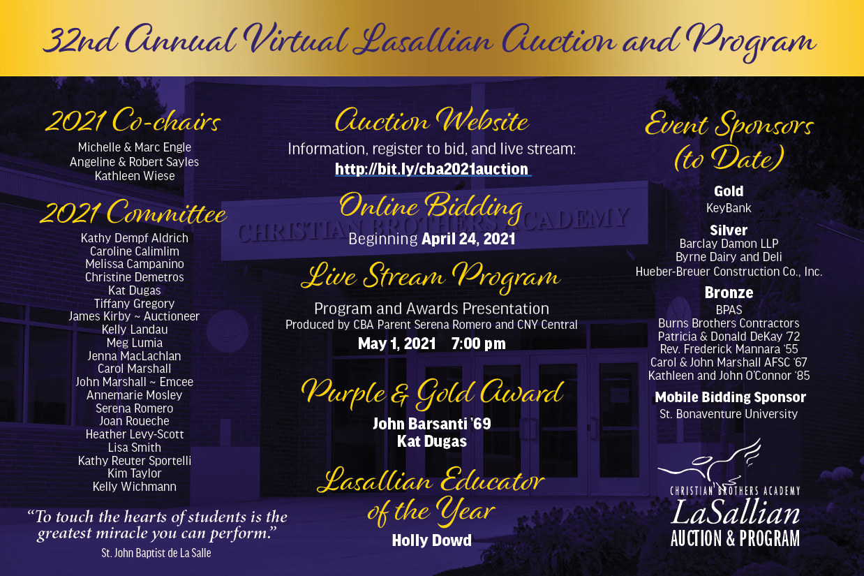 32nd Lasallian Auction And Program